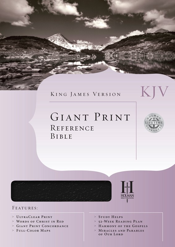 KJV Holman Giant Print Reference Bible Genuine Black Imprinted